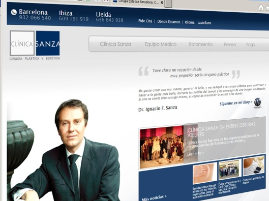 Nueva Web de Clinica Sanza. Cirugía Estetica y plástica