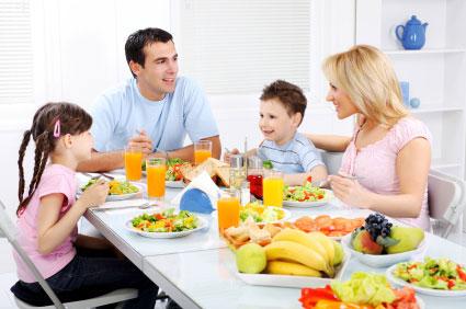 comer en familia es mas sano